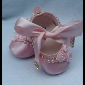 Cute Walk by Babyhug Party Wear Belly Shoes Bow Applique – Pink